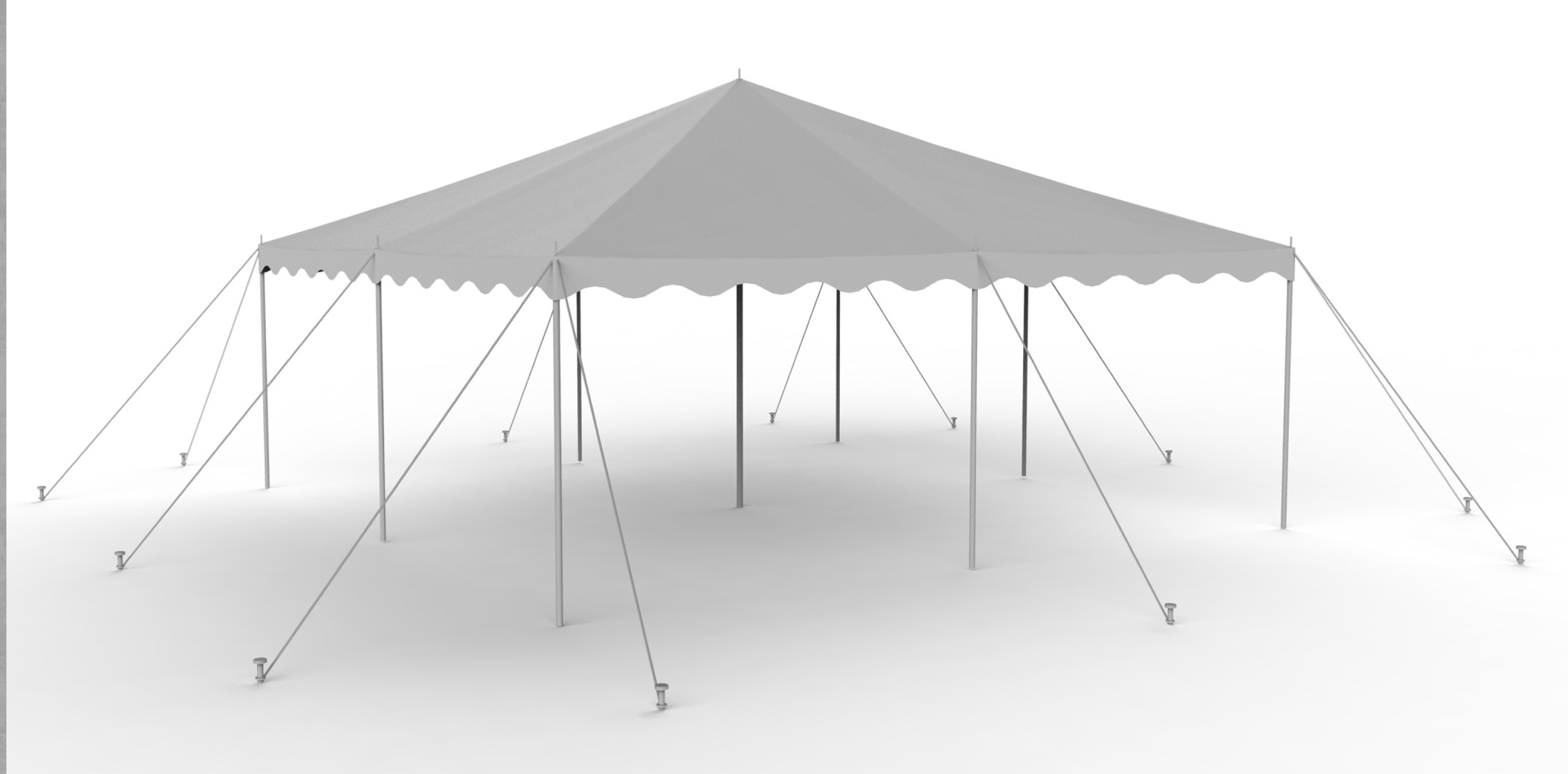 20X20 White Staked Canopy
