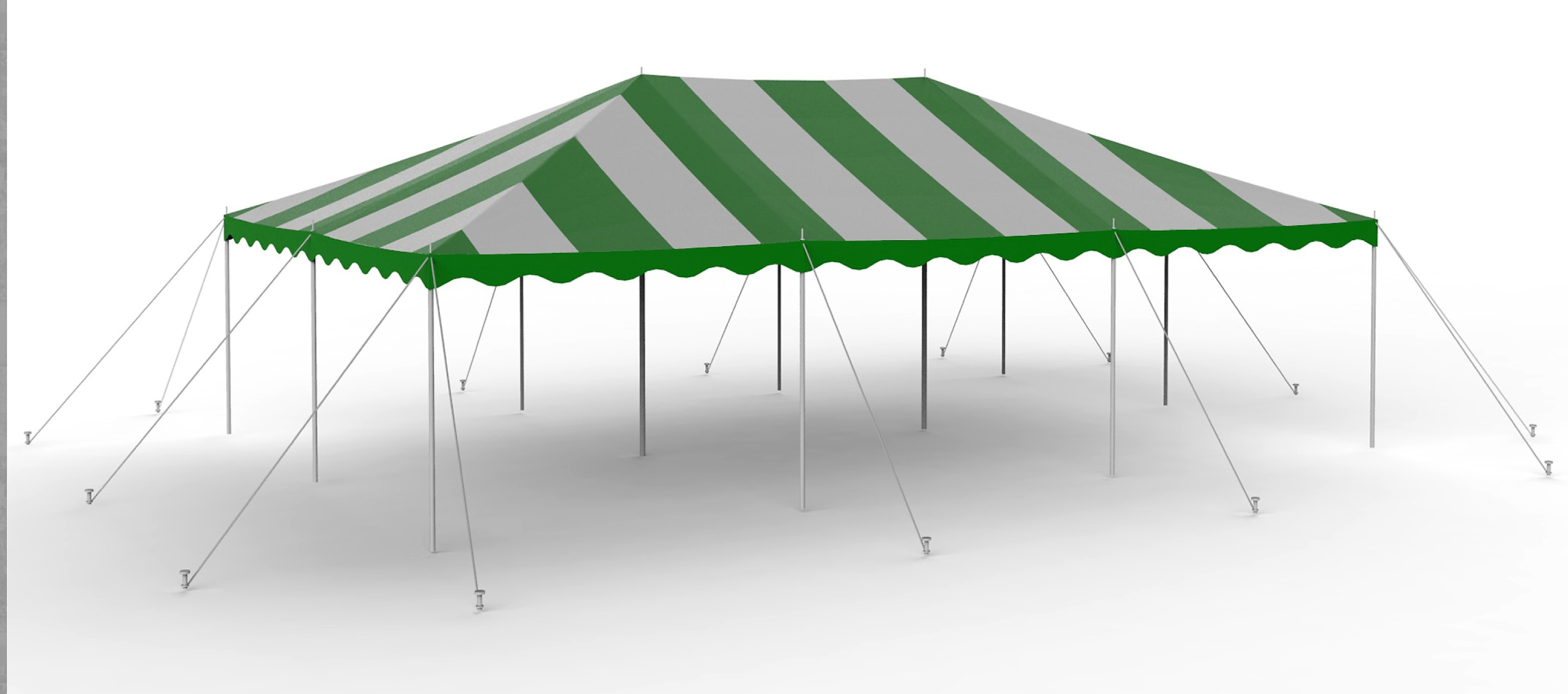 20X30 Green-White Canopy