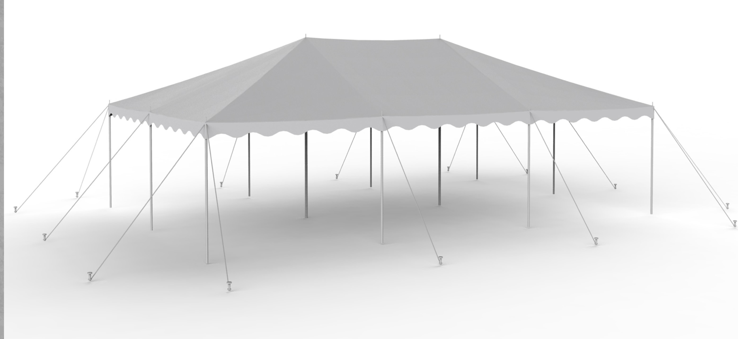 20X30 White Staked Canopy