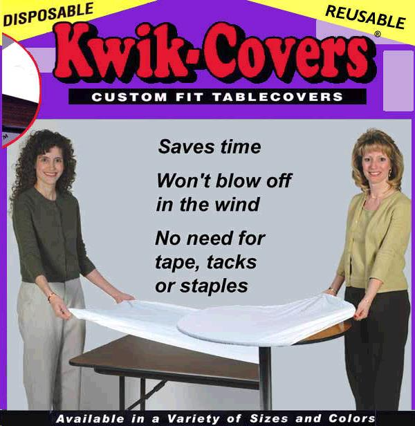 Where to find TABLECOVER, KWIK 60  RD BLACK in St. Paul