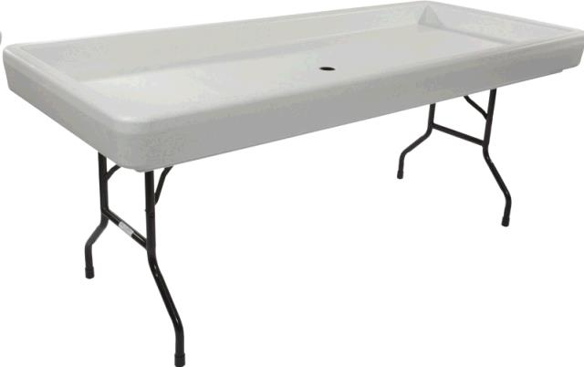 Cooler 6 Foot Fill N Chill Table Black Rentals St Paul Mn