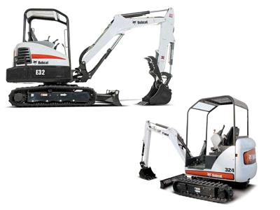 Rent  Backhoe Mini Excavators
