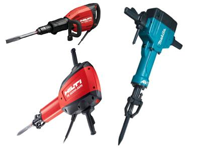 Rent your ELECTRIC JACK HAMMER, AIR HAMMER, HYDRAULIC HAMMER