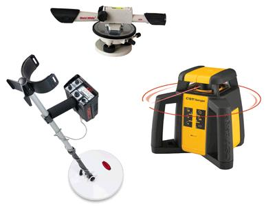 Rent your Pipe Locator, Metal Detector, Transit, Laser Transit, Infrared Camera, Micro Inspection Camera